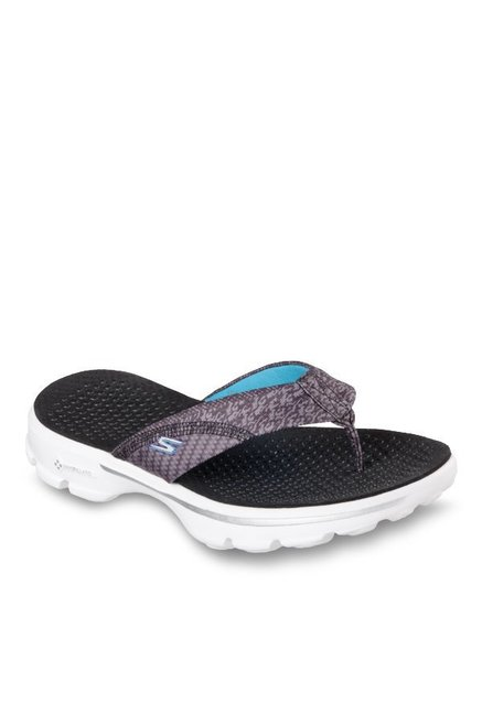 cf46e2724b10 Buy Skechers Go Walk Pizazz Grey Thong Sandals for Women at Best Price   Tata  CLiQ