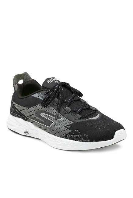 Buy Skechers Gorun 5 Black & Grey Running Shoes for Men at