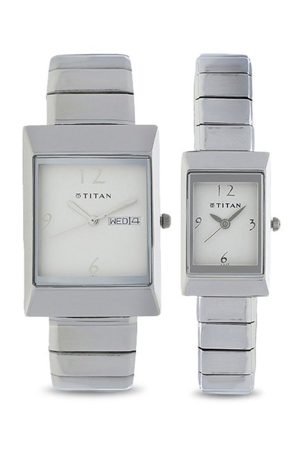 Titan NH19572957SM01 Bandhan Analog White Dial Couple Watch (NH19572957SM01)