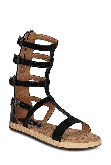 53956eded0b Buy Kielz Black Gladiator Sandals for Women at Best Price   Tata CLiQ