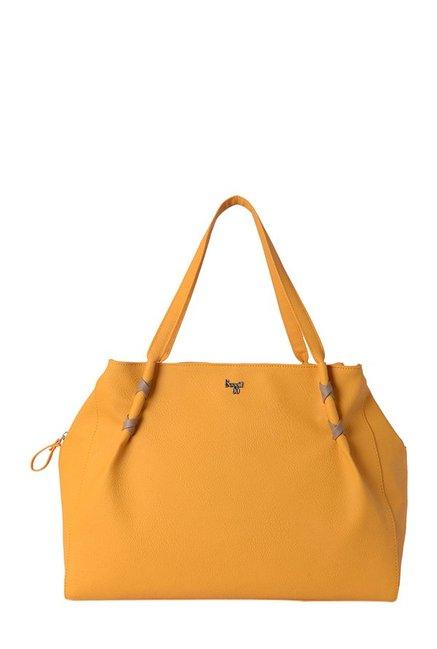 Baggit Whiper Mango Yellow Solid Shoulder Bag