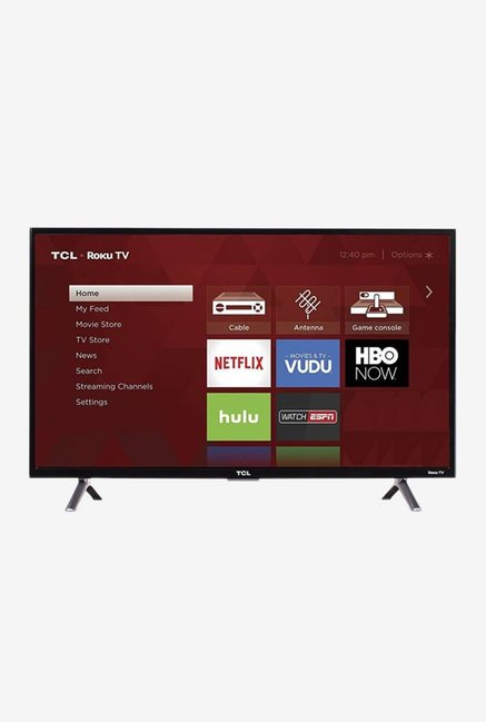 TCL 32S4/32S62S 81 cm (32 inches) Smart HD Ready LED TV (Black)