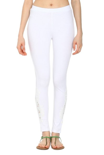 Soch White Slim Fit Churidar