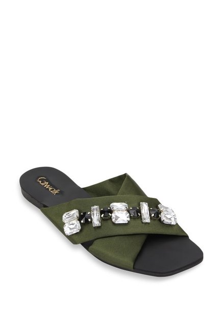 f0512855fb5c Buy Catwalk Green Casual Sandals for Women at Best Price   Tata ...
