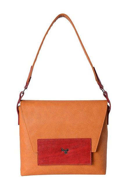 Baggit Mia Tan Solid Shoulder Bag