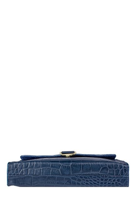 d0e6ade45d Buy Hidesign EE Elsa W1 Blue Textured Leather Flap Sling Bag For ...