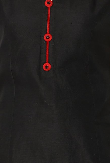 Soch Black Regular Fit Chanderi Kurta