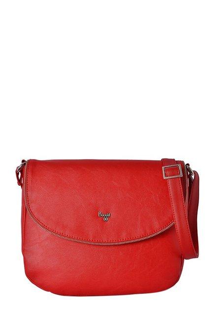 Baggit Ibiza1 Red Solid Flap Sling Bag