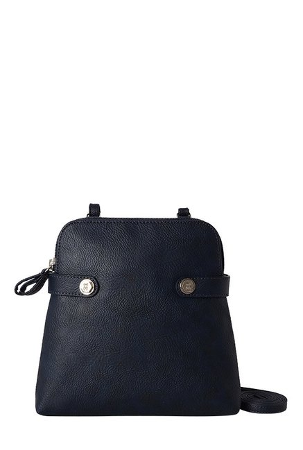 Baggit Creator Navy & Red Solid Sling Bag