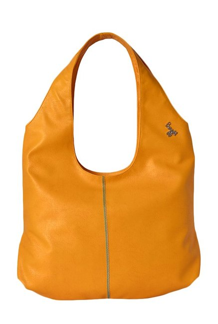 Baggit Get Mango Yellow Solid Hobo Bag