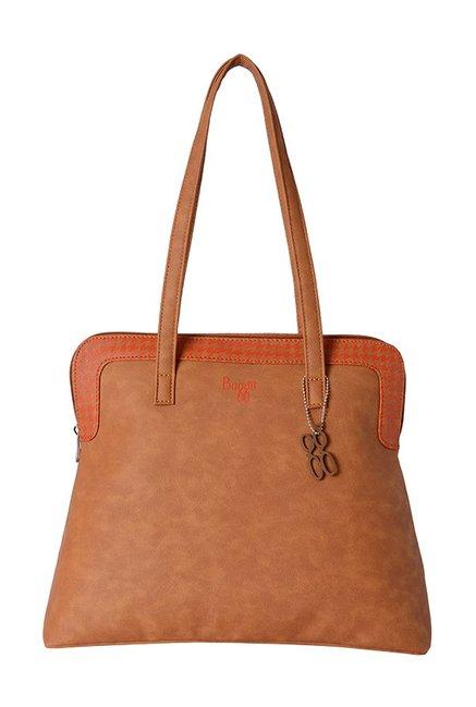 Baggit Oly Tan Distressed Shoulder Bag