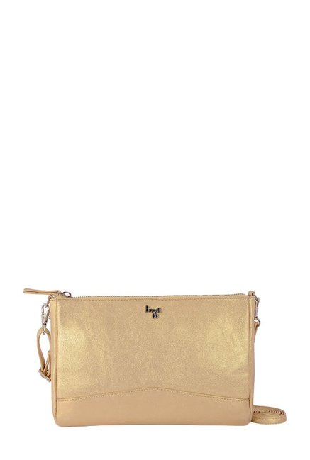 Baggit Jessie Golden Solid Sling Bag