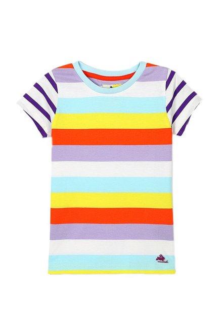 346a4382 Buy Cherry Crumble California Multicolor Striped T-Shirt for Boys Clothing  Online @ Tata CLiQ
