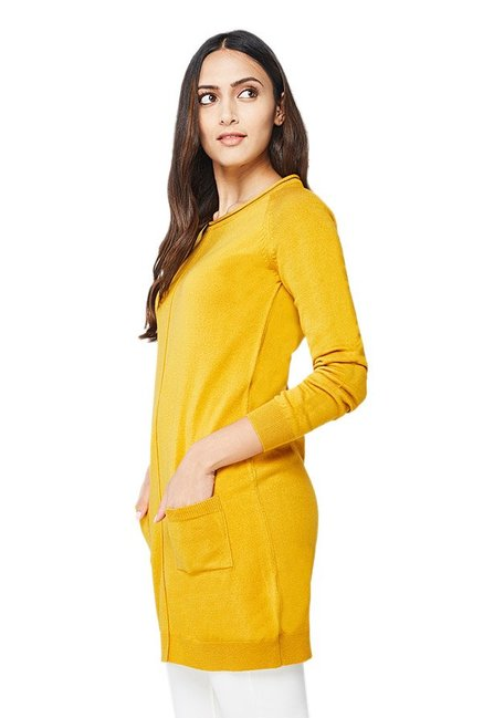 AND Mustard Textured Tunic
