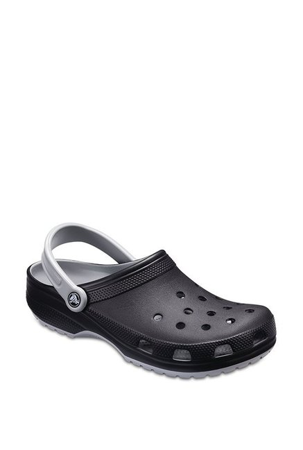 8779263a44ca Buy Crocs Classic Carbon Black   Light Grey Back Strap Clogs for ...