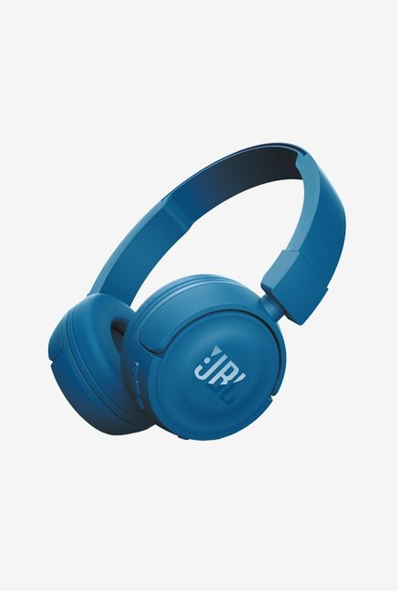 JBL T450BT Extra Bass Wireless On-Ear Headphones, Blue