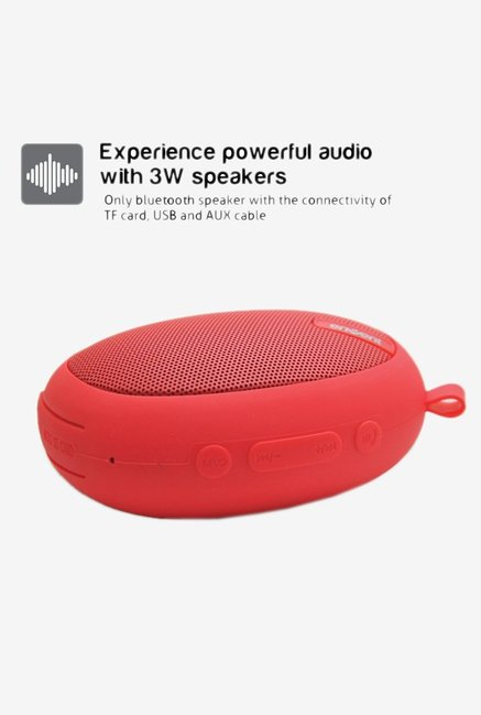 Envent LiveFree 325 Portable Bluetooth Speaker (Red)