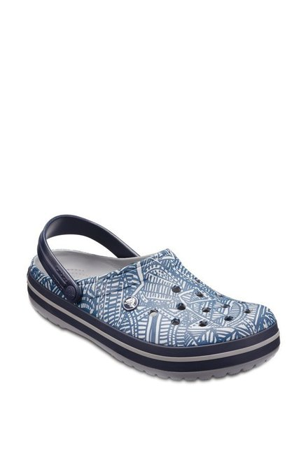 965f4977c21a3 Buy Crocs Crocband Light Grey   Blue Back Strap Clogs for Men at Best Price    Tata CLiQ