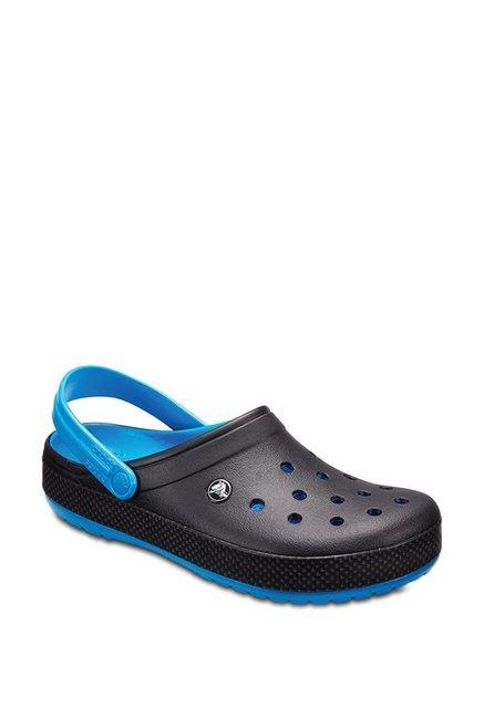 1c3ea850bdc4e0 Buy Crocs Crocband Carbon Black   Ocean Blue Back Strap Clogs for Men at  Best Price   Tata CLiQ