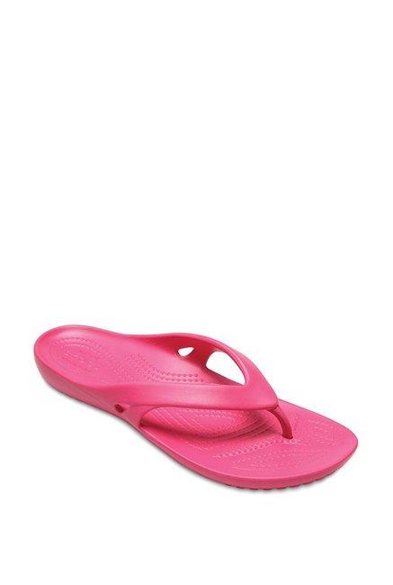 fe940d5cd3a81 Buy Crocs Kadee II Paradise Pink Thong Sandals for Women at Best Price    Tata CLiQ