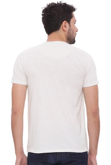 Basics Ecru Half Sleeves T-Shirt