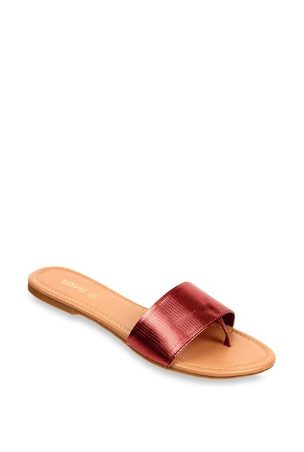 a4777f03c24c Buy Lavie Maroon Casual Sandals for Women at Best Price   Tata CLiQ