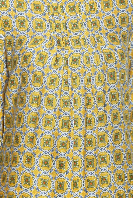 Soch Yellow Printed Rayon Tunic