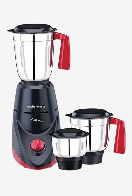 Morphy Richards Aero Plus 500 Watts 3 Jar Mixer Grinder Black/Wine