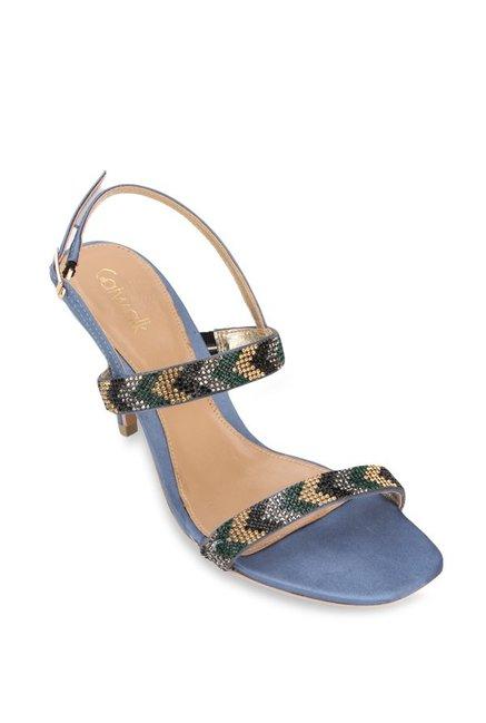 ea5642c66d49 Buy Catwalk Blue   Green Back Strap Stilettos for Women at Best ...