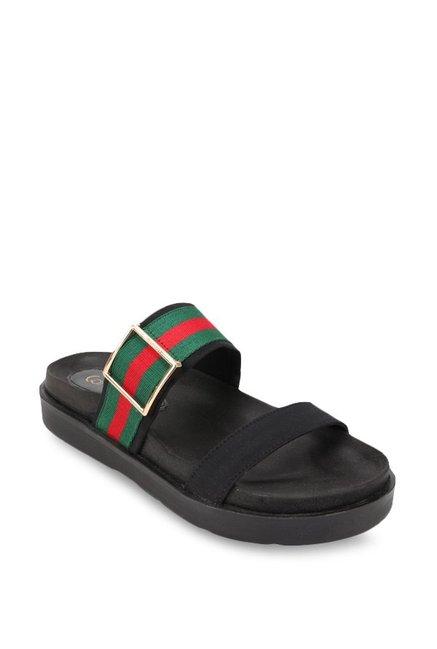 204f88d7fa87 Buy Catwalk Black   Green Casual Sandals for Women at Best Price   Tata CLiQ