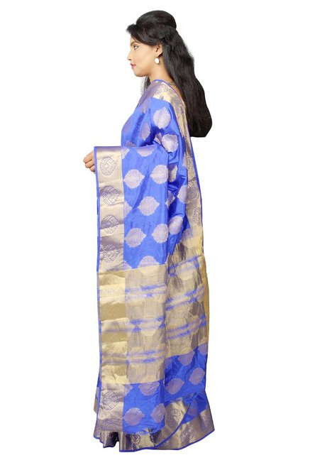 Pavecha's Purple Printed Taffeta Saree