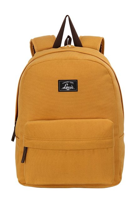 Lavie Madrid Mustard Solid Polyester Backpack