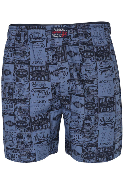 866aa2091 Buy Jockey Ink Blue Printed Cotton Boxer Shorts - US56 for Men Online    Tata CLiQ
