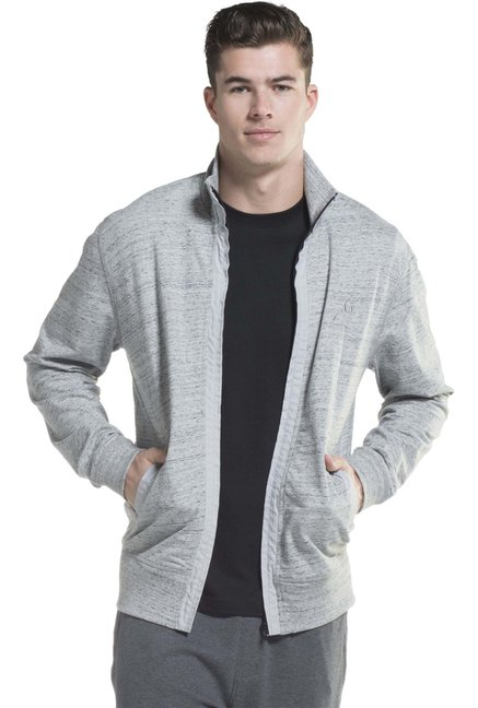 a7df3aba0af Buy Jockey Grey High Neck Jacket - 2730 for Men Online @ Tata CLiQ