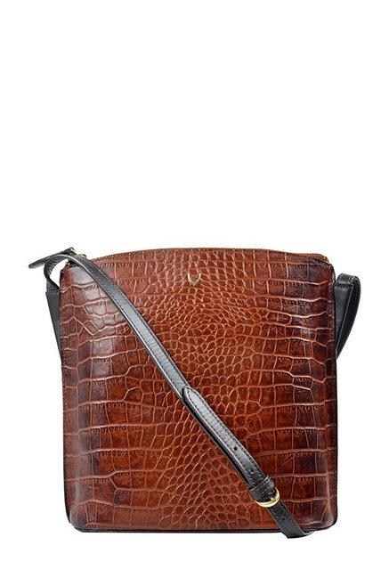 Hidesign Scorpio 03 Tan Textured Leather Sling Bag