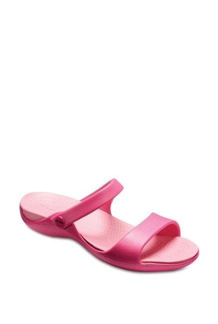 5e8b2b88f Buy Crocs Cleo V Paradise Pink Casual Sandals for Women at Best Price   Tata  CLiQ