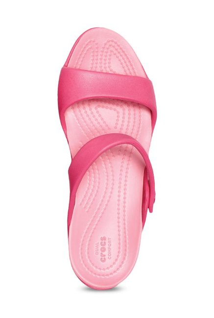 40c0a9c17 Buy Crocs Cleo V Paradise Pink Casual Sandals for Women at Best ...