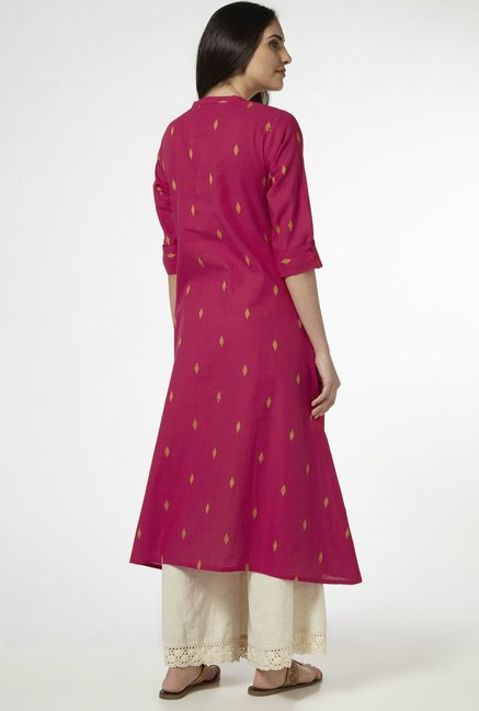 Utsa by Westside Pink Pure Cotton Kurta