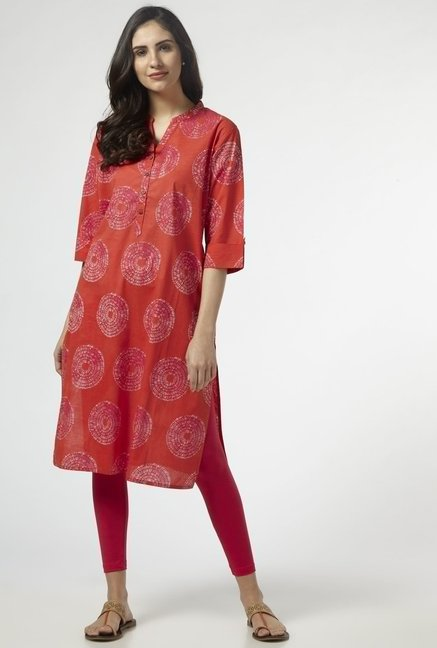 Utsa by Westside Coral Pure Cotton Kurta