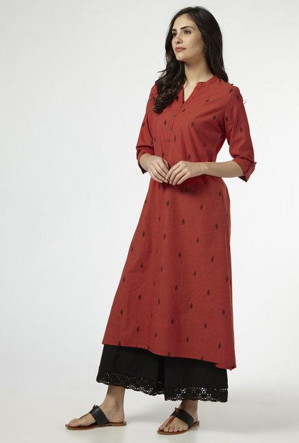 Utsa by Westside Rust Pure Cotton Kurta