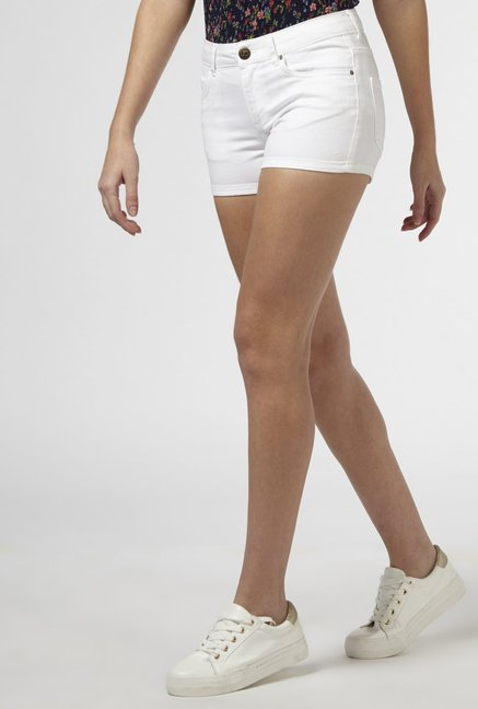 promo code most popular on sale Buy Nuon by Westside White Denim Shorts for Women Online ...