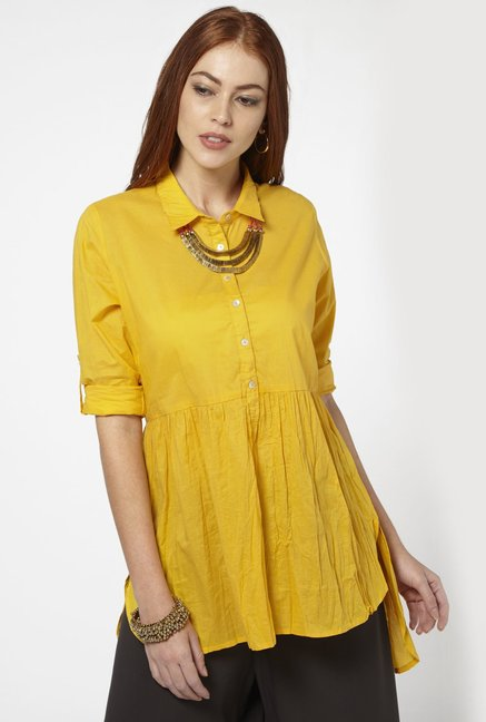 Bombay Paisley by Westside Yellow Tunic