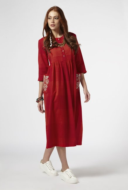 Bombay Paisley by Westside Dark Red Dress