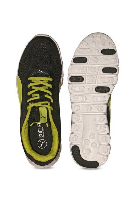 c38b3ec0caf Buy Puma Blur V2 IDP Black   Lime Punch Running Shoes for Men at ...