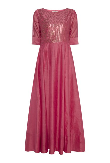 Vark by Westside Pink Maxi Dress