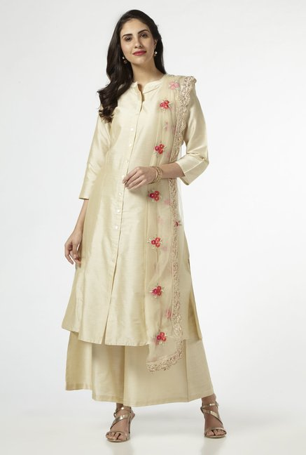 Vark by Westside Beige Ethnic Set