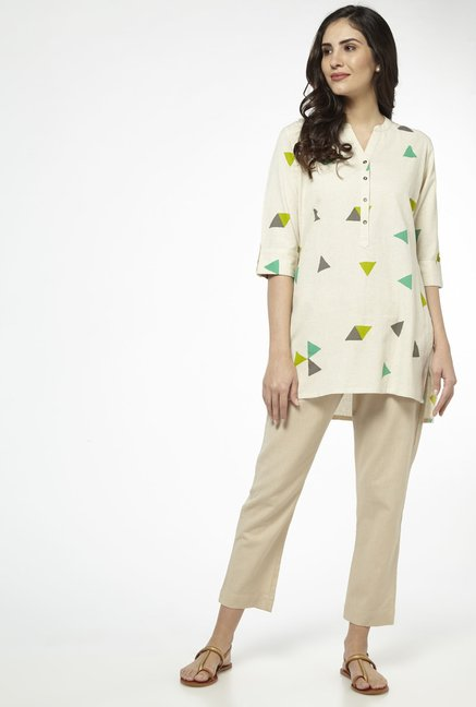 Utsa by Westside Cream Kurti