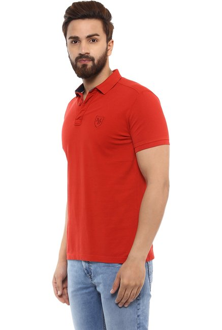 Mufti Red Half Sleeves T-Shirt