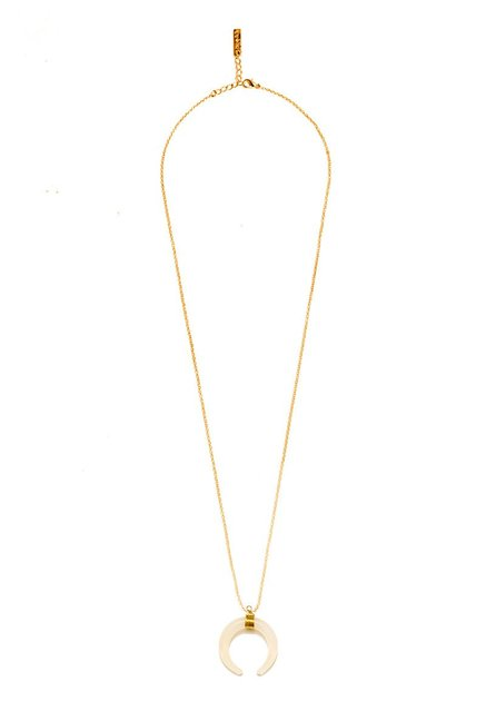 Pipa Bella Golden Horn Pendant Necklace