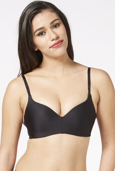 3a7673a532a0f Buy Wunderlove by Westside Black Non-wired Push-up Bra for ...